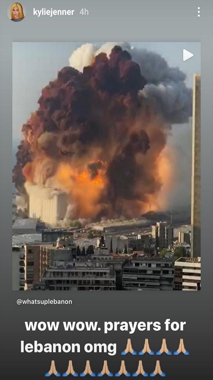 كايلي جينر تعلق على انفجار بيروت