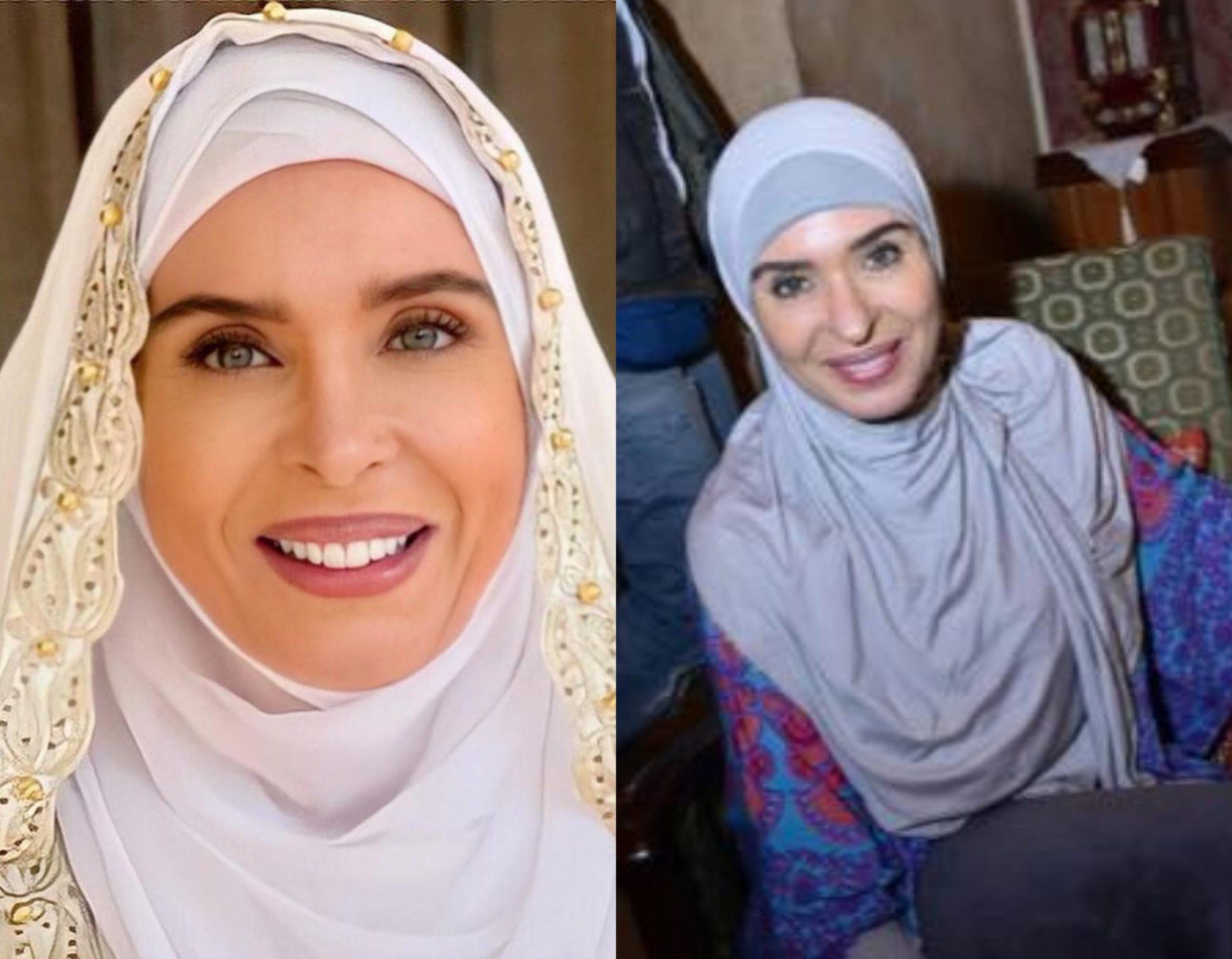 دينا ترتدي الحجاب