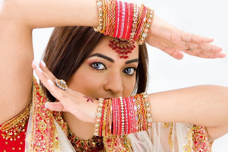 مكياج عروس هندي