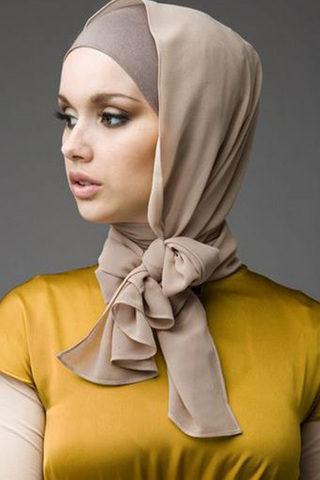 لفة حجاب الفيونكة