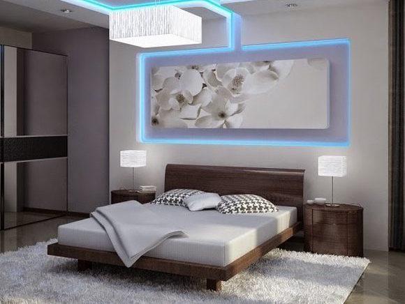 افكار للإضاءة فوق السرير