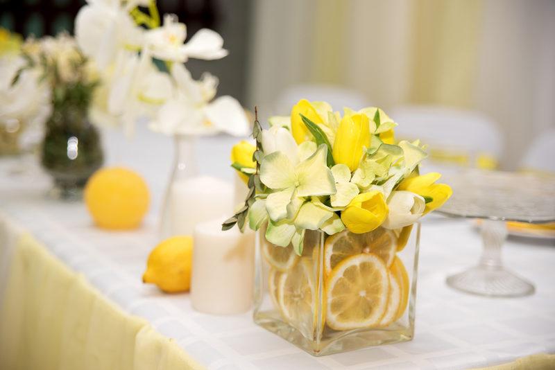 ديكورات صيفية منعشة باستخدام الليمون