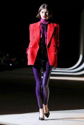 أزياء سان لوران خريف وشتاء 2020 ضمن أسبوع الموضة العالمي في العاصمة الفرنسية باريس