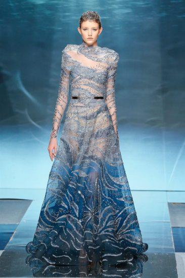 تصفّحي معنا صور الفساتين التي قدّمها المصمم اللبناني زياد نكد لربيع وصيف 2020