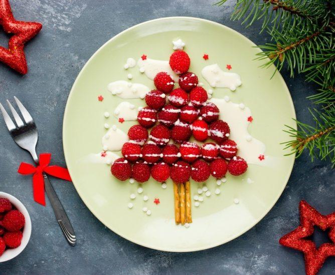 أفكار لتزيين الأطباق بوحي من شجرة الميلاد - أنوثة