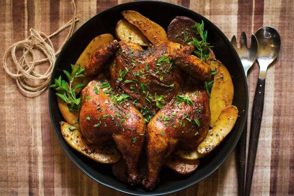 دجاج مشوي بالبابريكا