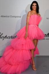 <p><strong>Kendall Jenner كيندال جينير</strong></p> <p>النجمة كيندال جينير اختارت فستاناً فضفاضاً مع الطبقات المختلفة المتراصة فوق بعضها البعض مع تدرج في طول الفستان من الامام الى الخلف، ما جعل اطلالتها بين الاطلالات الاسوأ في كان.</p>