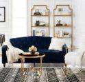 ديكورات ذهبية لغرفة المعيشة - أنوثة