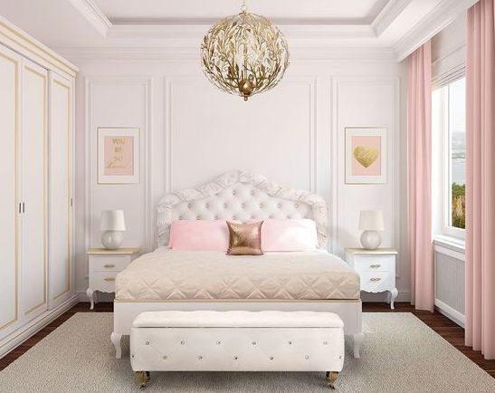تعتبر ألوان الأبيض والوردي الناعم من الألوان المثالية لتهدئة الأعصاب ويمكنك إعتمادها لديكور غرفة نومك.