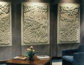 عزّزي فخامة صالونك وإختاري مجموعة من اللوحات الجدارية المنحوتة بالحجر والمتناسقة من حيث الشكل والحجم، كالتي تلاحظينها في الصورة.