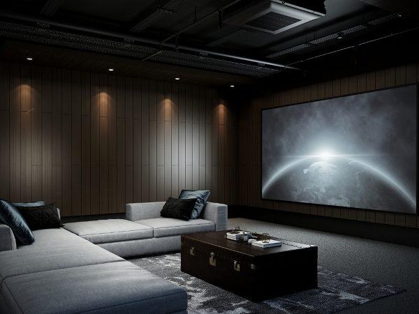 طريقة تصميم صالة السينما المنزلية - أنوثة