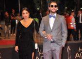 اطلالة رائعة ومتميزة لزوجة أحمد الفيشاوي، ندى كامل، حيث تألقت في إحدى المناسبات الفاخرة بالفستان الاسود ذات الشق العالي.