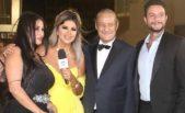 خلال احدى المهرجانات التي شارك فيها النجم أحمد الفيشاوي، تألقت زوجته ندى كامل بفستان أنيق باللون الاسود وبدت في غاية الجمال.