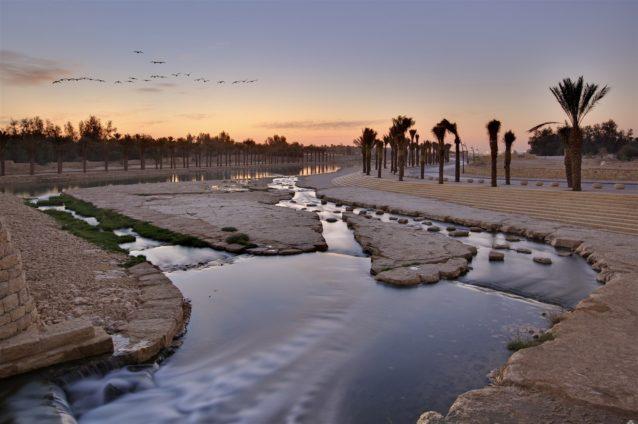 <p><strong>وادي حنيفة - Wadi Hanifa</strong></p> <p>إنه أطول الأماكن الترفيهية في الرياض وأكبرها. يمكن الاستمتاع بالنزهة بين أشجاره ومياهه الجارية ويمكن أخذ العائلة في نزهة ممتعة إلى هذا الوادي بهدف الحصول على هواء نظيف ونزهة غير مكلفة.</p>