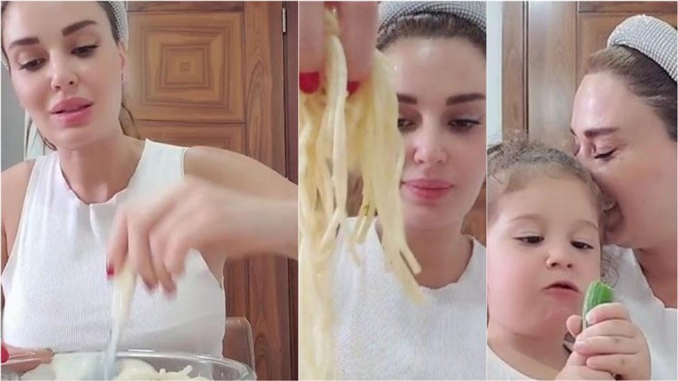 بالفيديو... طبق باستا لذيذ من مطبخ سيرين عبد النور!