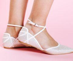 بالصور... أجمل احذية عرائسية دون كعب من أشهر الماركات!