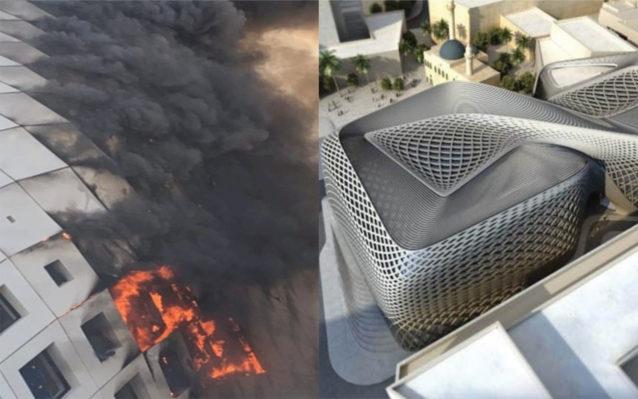 حريق مبنى زها حديد في بيروت... آخر مبنى صممته المهندسة العالمية قبل وفاتها