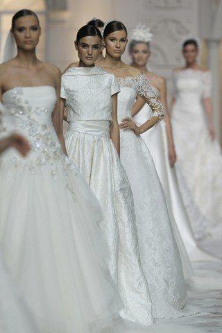 فساتين العرس من برونوفياس في أسبوع موضة العروس في برشلونا